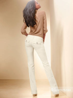 Продам новые синие вельветовые брючки Victoria`s Secret, размер 0, длина long. VS LOW FIVE FLAP-POCKET BOOTCUT PANT IN CORDUROY