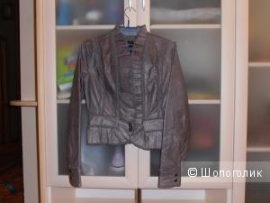 Продам новый кожаный жакет Victoria`s Secret. Серого цвета, размер XS.