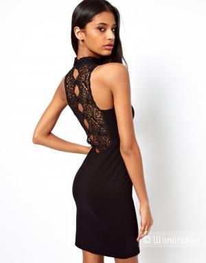 Продам новое платье-футляр с кружевной спинкой. Размер 8 UK.