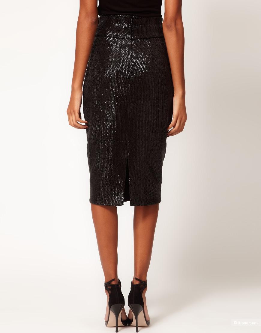 Шикарная юбка карандаш Aqua