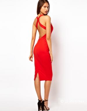 Продам платье-футляр из ткани понте с глубоким декольте . Размер UK 10.