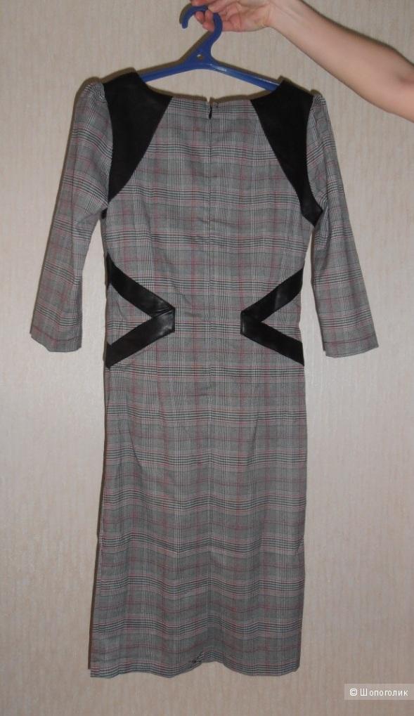 Продам новое платье в клетку с поясом-корсет Paper Dolls. Размер 8 UK.