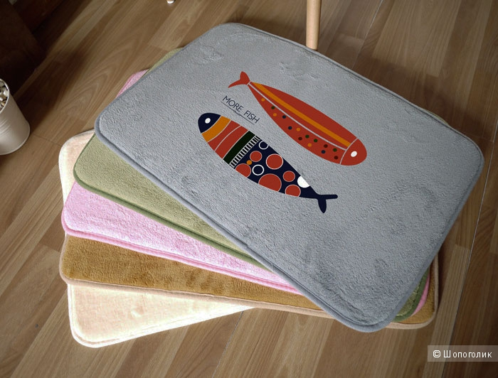 Коврик бархатный с рыбами