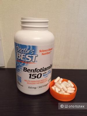 Doctor's Best, Бенфотиамин 150 (Best Benfotiamine 150), 150 мг, 120 растительных капсул