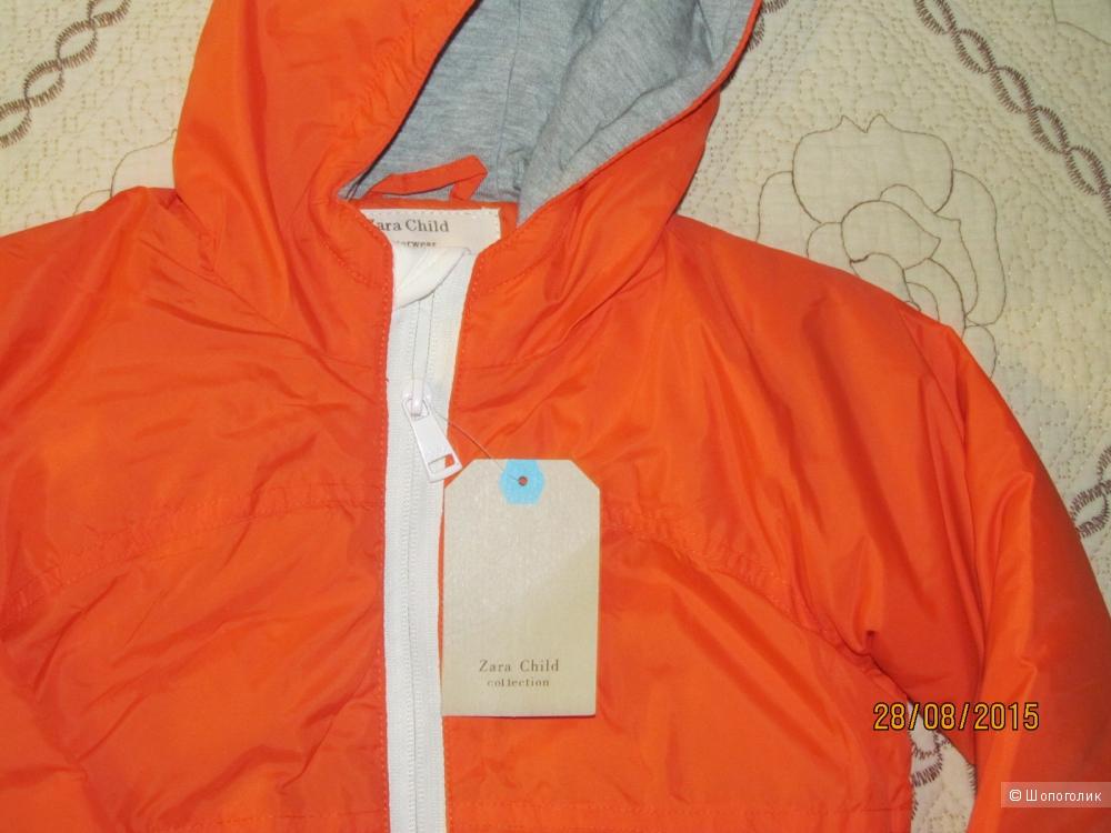 Куртка осенняя оранжевая Zara child