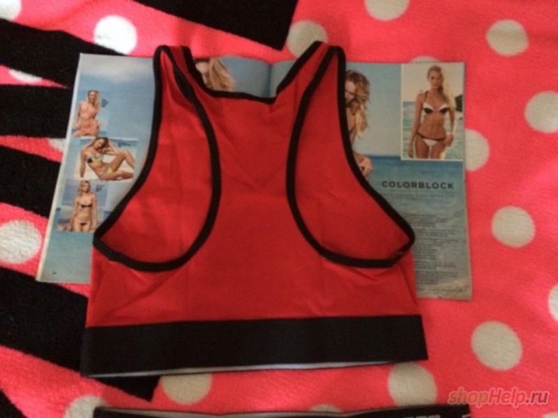 Плотные трусики и топ PINK в красном стиле от Victoria's Secret