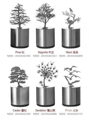 Ночник на батарейках с деревом и птицами