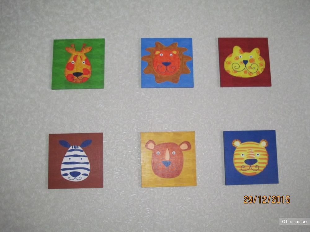 Картинки на липучках с животными в детскую и не только...