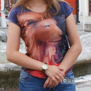 Футболка со львом винтажная