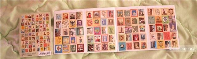 Сувенирные марки, наклейки для скрапбукинга