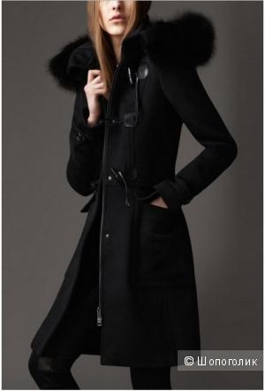 Пальто кашемировое на молнии с отстежным мехом