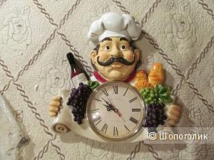 Часы на кухню с поваром