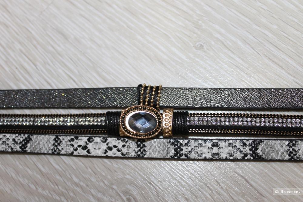 Стильный браслет из PU-кожи с магнитной застежкой