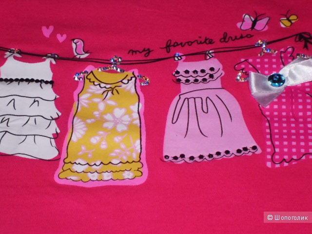 Продаю футболку детскую со стразами, Lady dress, р. 18м - 6T