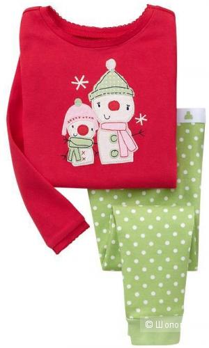 Новая пижамка со снеговиками, р. 7years (маломерка)