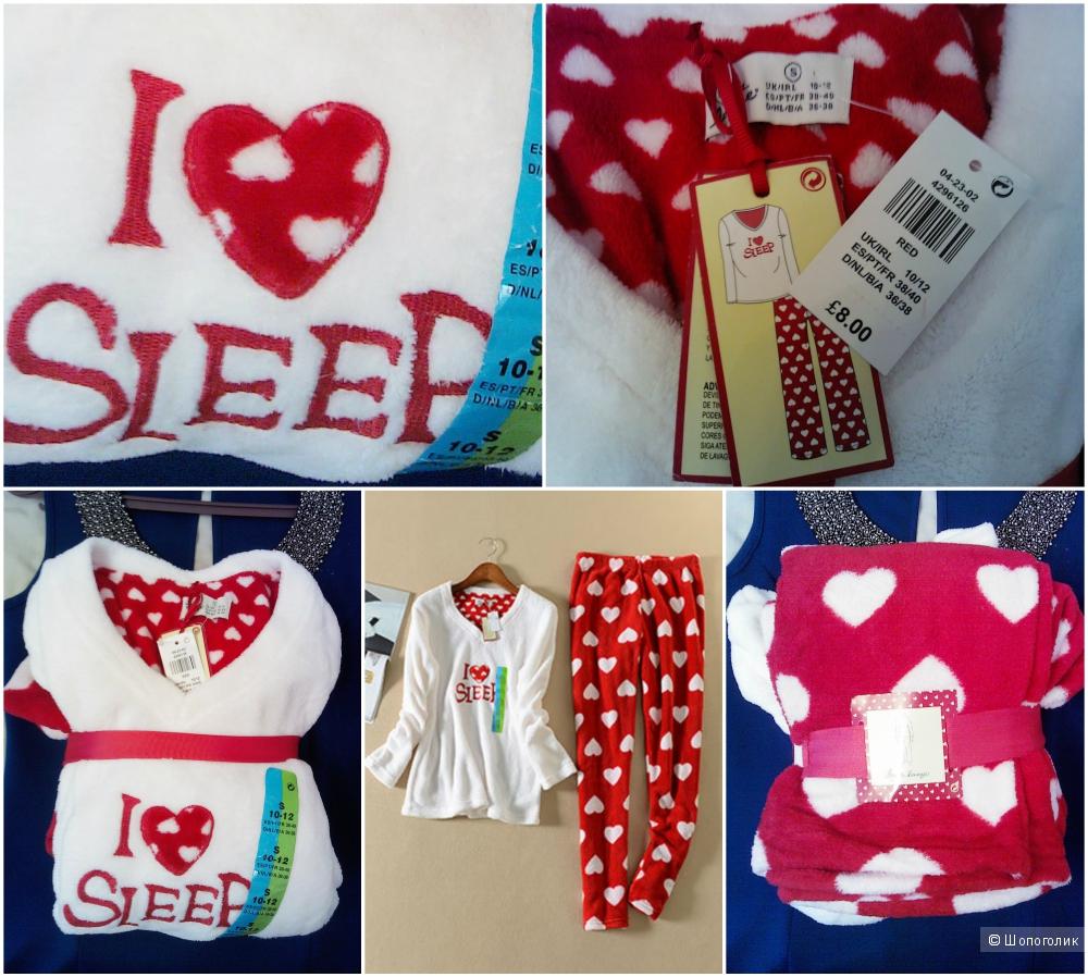 """Мягкий домашний костюм Primark """"I love sleep"""""""