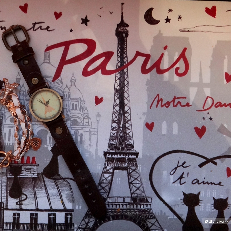 Винтажные женские часы с эйфелевой башней