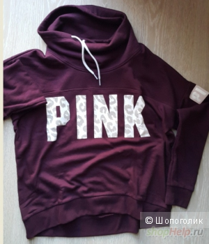 "Толстовка PINK OVERSIZE COWL NECK PULLOVER ""LOVE PINK"" SWEATSHIRT NWT"