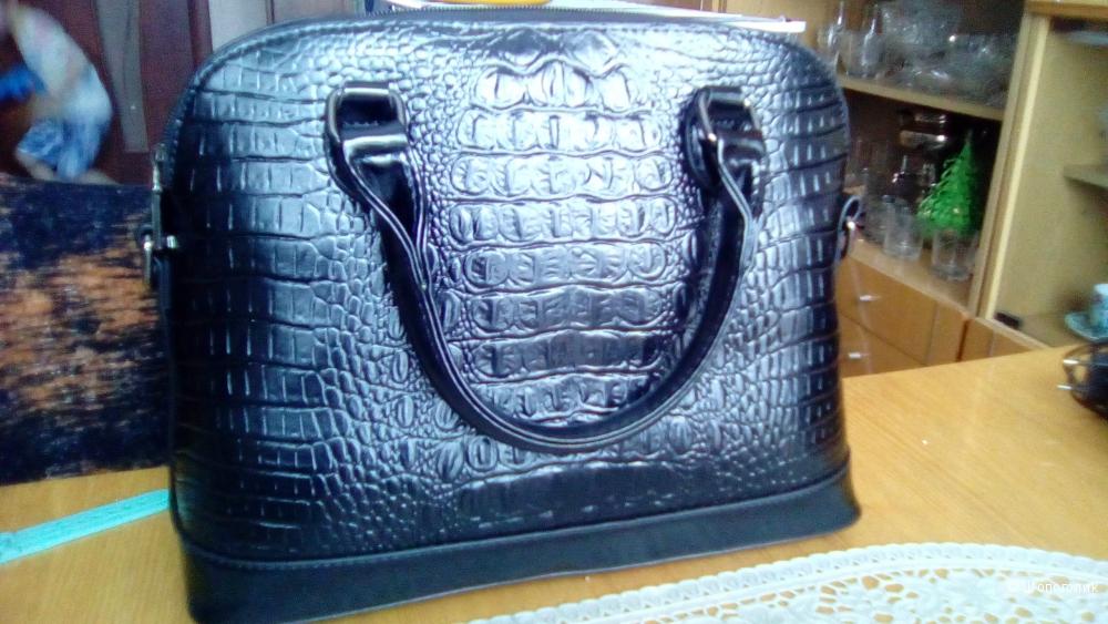 Классная черная кожаная сумка (комплект из 3х)