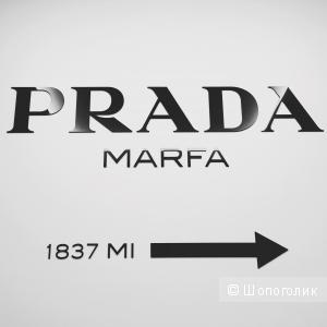 """3D наклейка """"Prada Marfa"""", декор на стену, объемные буквы из акрила"""