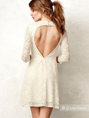 Продам кружевное платье, The Lace Collection Open-back Dress, цвет Night blue, р. S