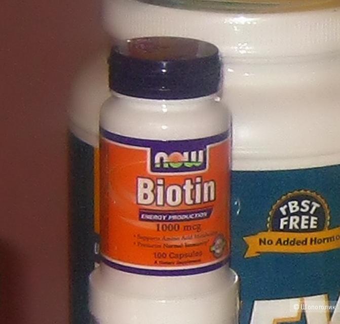 Биотин для укрепления и роста волос и ногтей, Now Foods