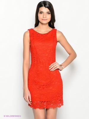 Красное кружевное платье, совсем новое, с бирками! р. 44RU