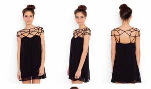 Интересное платье с паутинкой, почти что новое, носилось всего 2 часа! р. M