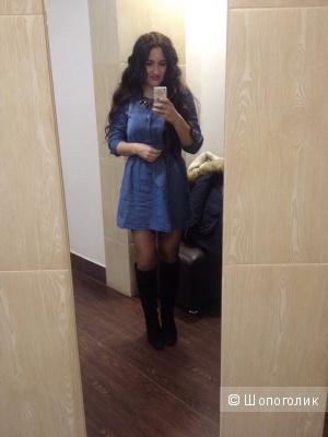 Джинсовое короткое платье