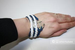 Плетеный браслет в морском стиле