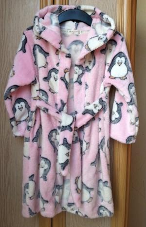 Теплый халат с пингвинами