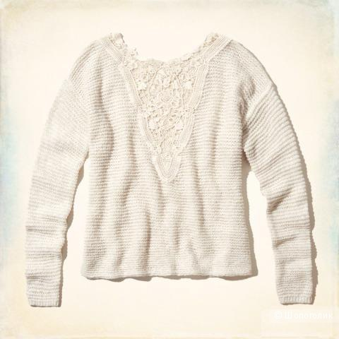 Продам кофту, Hollister Hidden Hills Lace Back Sweater, р. S