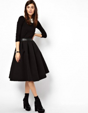 Пышная юбка миди из нетканого крепа, ASOS Premium, р. 40-42