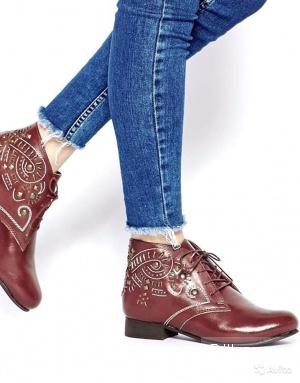 Оригинал. Кожа. Новые Ботинки Ботильоны Asos