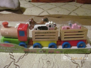 Поезд деревянный для малышей