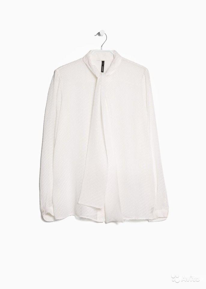 Оригинал. Новая Блузка Mango с Бантом. 100% Шелк 46 - 48 размер
