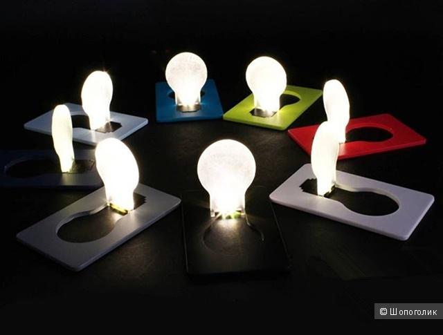 Компактный светильник-карточка в виде лампочки