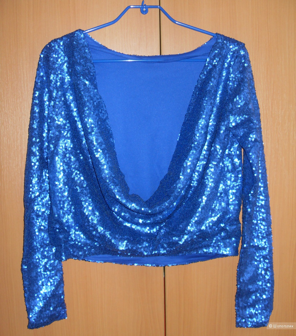 Продаю топ ASOS Top with Sexy Cowl Back in sequin UK10