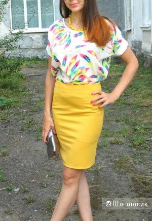 Очень красивая желтая юбка карандаш
