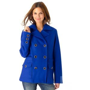Яркое шерстяное пальто: размер S, новое.