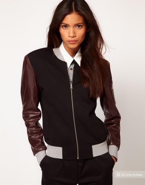Шикарный жакет-куртка с кожаными рукавами Antipodium