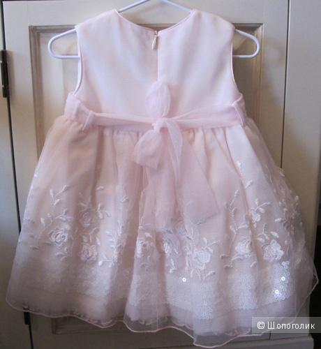 Зефирное платье Aletta 6-9 мес