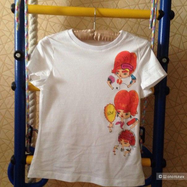 2 новые футболки р.XS (или на подроста на рост 150-155 см)