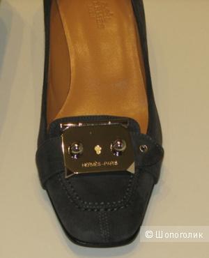 Замшевые туфли Hermes. Оригинал. Маркировка 39.