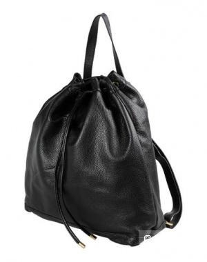 """Кожаный черный рюкзак итальянской марки """"8"""""""