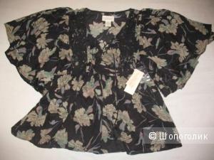 Новая блузка-разлетайка на шнуровке Ralph Lauren XS-S черная
