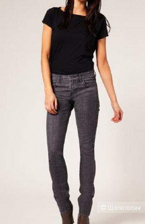 Dr Denim Mauser Grey Used Skinny Jeans W27