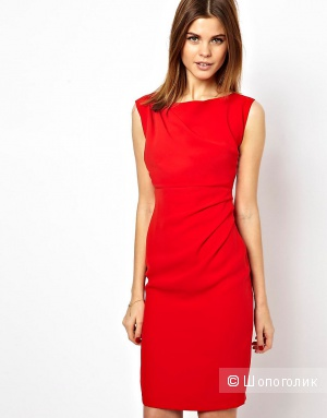 Красное платье-футляр A Wear