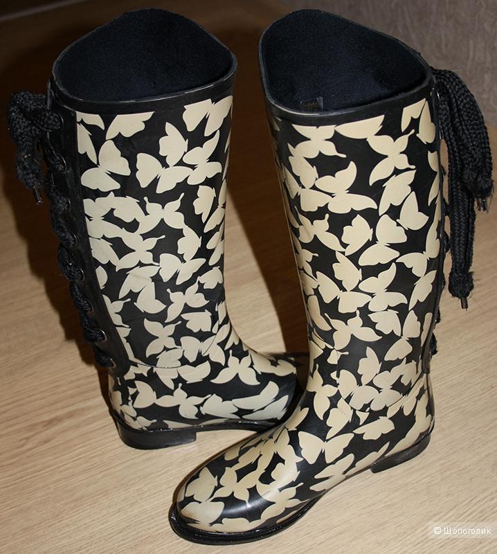 Резиновые сапоги с бабочками копия Killah