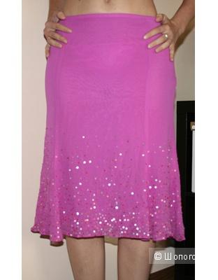 Нарядная шелковая юбка Caractere